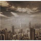 Luxusné vliesové fototapety Hong Kong - sépia, rozmer 279 cm x 270 cm