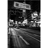 Luxusné vliesové fototapety Tokyo - čiernobiele, rozmer 186 x 270cm