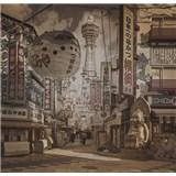 Luxusné vliesové fototapety Yokohama - sépia, rozmer 279 x 270cm
