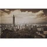 Luxusné vliesové fototapety Taipei - sépia, rozmer 418,5 x 270cm