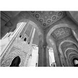 Luxusné vliesové fototapety Casablanca - čiernobiele, rozmer 372 x 270cm