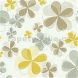Vliesové tapety na stenu Modern Line kvety žlté