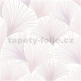 Vliesové tapety na stenu Collection lúčový vzor ružovo-fialový na bielom podklade s trblietkami