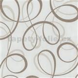 Tapety na stenu Confetti - stuhy svetlo hnedé