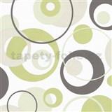 Tapety na stenu Confetti - bubliny zelené - ZĽAVA