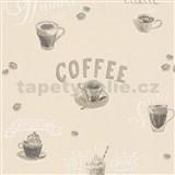 Vliesové tapety na stenu IMPOL Finesse Coffee béžové