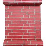 Samolepiace fólie nepravidelná tehla klasik červená 45 cm x 10 m