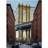 Vliesové fototapety Brooklyn Manhattan Bridge, rozmer 184 cm x 248 cm