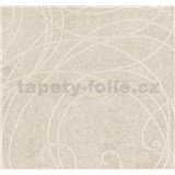 Vliesové tapety na stenu MERINO ornamenty na metalickom béžovom podklade