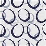Tapety na stenu Novara elipsy - slivkovo modré