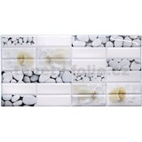Obkladové 3D PVC panely rozmer 955 x 480 mm mušle a kamene