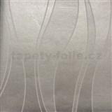 Papierové tapety na stenu vlnovky sivé