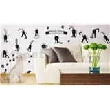 Samolepky na stenu náladové mačky