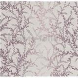 Vliesové tapety na stenu Seasons lístky vínovo červené na béžovom podklade