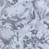 Vliesové tapety na stenu Seasons kvety sivé