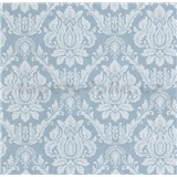 Vliesové tapety na stenu Seasons zámocký vzor biely na modrom podklade