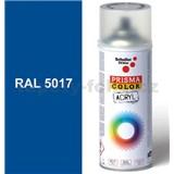 Sprej modrý lesklý 400ml, odtieň RAL 5017 farba dopravná modrá lesklá