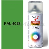 Sprej zelený lesklý 400ml, odtieň RAL 6018 farba žlto zelená lesklá