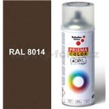Sprej hnedý lesklý 400ml, odtieň RAL 8014 farba sépiovo hnedá lesklá