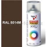Sprej hnedý matný 400ml, odtieň RAL 8014 farba sépiová matná