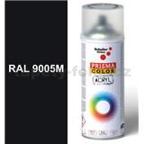 Sprej čierny hedvábno matný 400ml, odstín RAL 9005 barva čierna hodvábne matná
