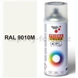Sprej biely hedvábno matný 400ml, odstín RAL 9010 barva biela hodvábne matná