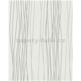 Vliesové tapety na stenu Summer Time prúžky bielo-sivé