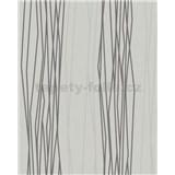 Vliesové tapety na stenu Summer Time prúžky tmavo sivo-biele