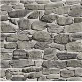 Papierové tapety na stenu kamenná stena sivo-hnedá