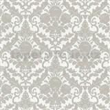 Vliesové tapety na stenu Hypnose zámocký vzor sivý