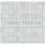 Vliesové tapety na stenu Easy Wall obklad svetle hnedo-modrý