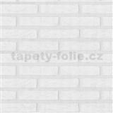 Vliesové tapety na stenu Wood n Stone tehla biela
