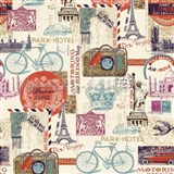 Papierové tapety Vintage Paris, London, New York