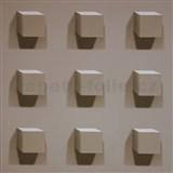 Vliesové tapety Kinetic 3D kocky hnedé