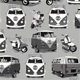 Papierové tapety Volkswagen bus and bike