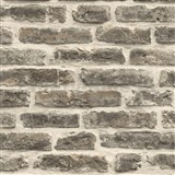Papierové tapety na stenu IMPOL tehlová stena sivo-hnedá
