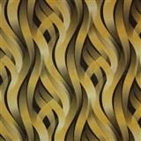 Vinylové tapety na stenu Kinetic 3D abstrakt okrovo-hnedý