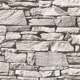 Vliesové tapety na stenu Roll in Stones štiepaný kameň sivý