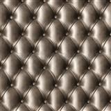 Papierové tapety na stenu IMPOL polstrovaná  koženka s gombíkmi hnedá