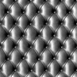 Papierové tapety na stenu IMPOL polstrovaná koženka s gombíkmi čierna