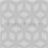 Vliesové tapety na stenu IMPOL Galactik hexagon strieborný na sivom podklade