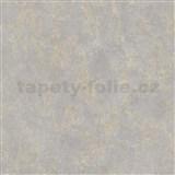 Vinylové tapety na stenu IMPOL štruktúrovaná omietkovina sivá so zlatými odleskami
