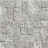 Vliesové tapety na stenu Roll in Stones kamenná mozaika sivo-strieborná