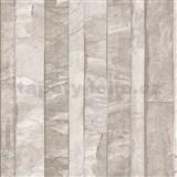 Vliesové tapety na stenu Roll in Stones kamenná stena svetlo hnedá