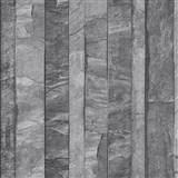 Vliesové tapety na stenu Roll in Stones kamenná stena sivo-hnedá