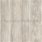 Papierové tapety na stenu IMPOL drevený obklad hnedo-sivý
