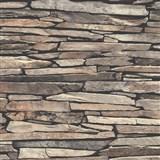 Vliesové tapety na stenu Kaleidoscope ukladaný kameň hnedý