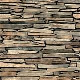 Papierové tapety na stenu IMPOL ukladaný kameň hnedý