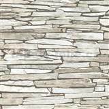 Papierové tapety na stenu IMPOL ukladaný kameň svetlo sivý