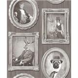 Vliesové tapety na stenu Replik Animal Portraits sépia